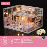 DIY Doll House Wooden doll Houses Miniature dollhouse Furniture Kit Toys for children Christmas Gift  L026 - The most popular products on Tiktok | GOWOW