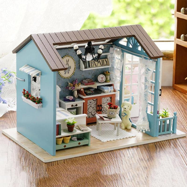 DIY Miniature Dollhouse Model Wooden Toy mini Furniture Hand-made doll house exquisite house for dolls gifts toys for children - The most popular products on Tiktok | GOWOW