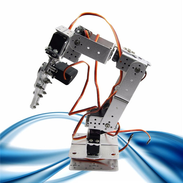 DIY Robot Smart Robot ROT2U 6DOF Aluminium Robot Arm Clamp Claw Mount Kit With Servos For Arduino-Silver - The most popular products on Tiktok | GOWOW