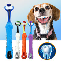 Dog Toothbrush Soft Pet Cat Toothbrush withThree Sided Dogs Rubber Tooth Brush Bad Breath Tartar Teeth Tool Pet Accessories - The most popular products on Tiktok | GOWOW