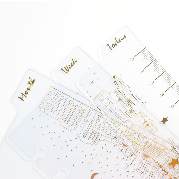 Domikee cute creative 6 holes binder planner notebook Gold foil index divider bookmark accessories:today weekly monthly A6 3pcs - The most popular products on Tiktok | GOWOW