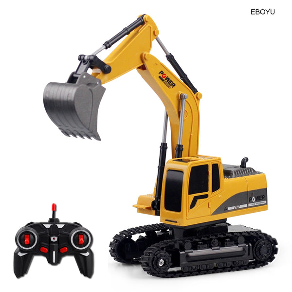 EBOYU 258-1 2.4Ghz 6CH 1:24 RC Excavator Mini RC Truck Rechargeable Simulated Excavator Gift Toy for Kids - The most popular products on Tiktok | GOWOW