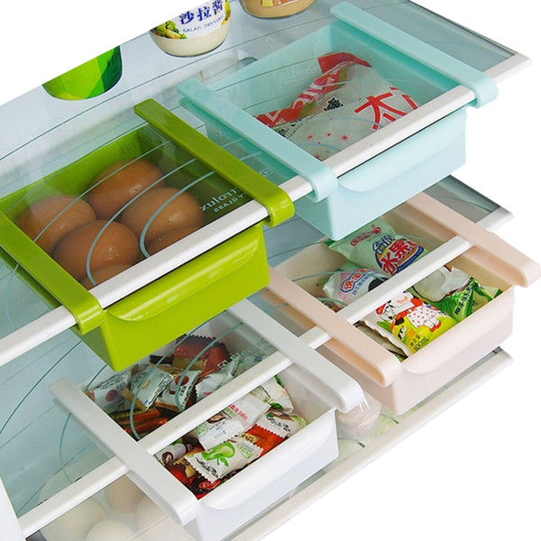 Eco-Friendly Multifunction Kitchen Refrigerator Storage Rack Fridge Freezer Shelf Holder Pull-out Drawer Organiser Space saver - The most popular products on Tiktok | GOWOW