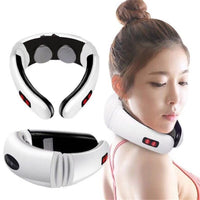 Electric Pulse Back and Neck Massager Far Infrared Heating Pain Relief Tool Health Care Relaxation Intelligent Cervical Massager - The most popular products on Tiktok | GOWOW
