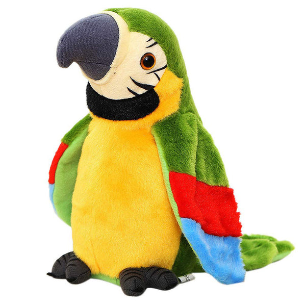 Electric Talking Parrot Plush Toy Cute Speaking Record Repeats Waving Wings Electroni Bird Stuffed Plush Toy Kids Birthday Gift - The most popular products on Tiktok | GOWOW