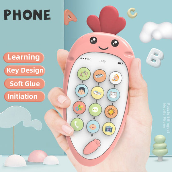 Electronic Toy Cartoon Phone Kid Mobile Phone Cellphone Telephone Educational Learning Toys Music Baby Infant Teether Phone - The most popular products on Tiktok | GOWOW