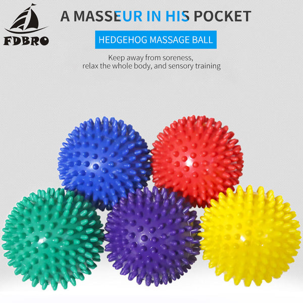 FDBRO Fitness PVC Hand Massage Ball PVC Soles Hedgehog Sensory Training Grip the Ball Portable Physiotherapy Ball 6.5 Free Ship - The most popular products on Tiktok | GOWOW