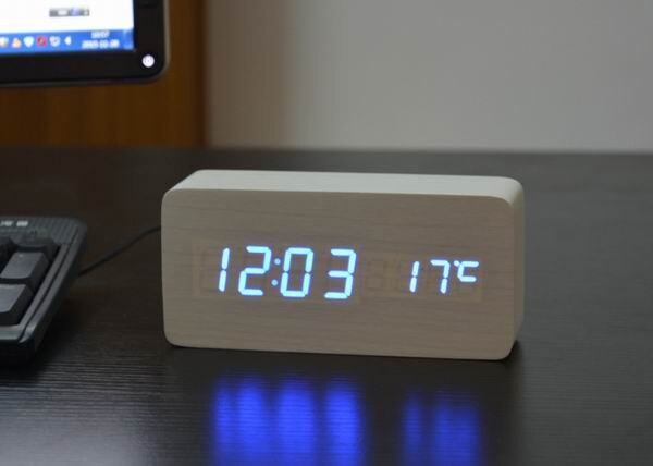 FiBiSonic Alarm Clocks with Thermometer ,Wood Wooden Led clocks, Digital Table Clock,Electronic Clocks With Cost - The most popular products on Tiktok | GOWOW