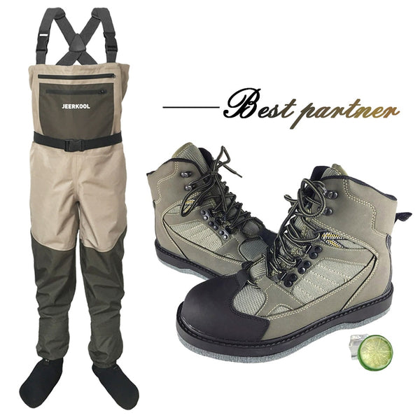 Fly Fishing Wading Shoes & Pants Aqua Sneakers Clothing Set Breathable Rock Sports Waders Felt Sole Boots Hunting No-slip Fish - The most popular products on Tiktok | GOWOW