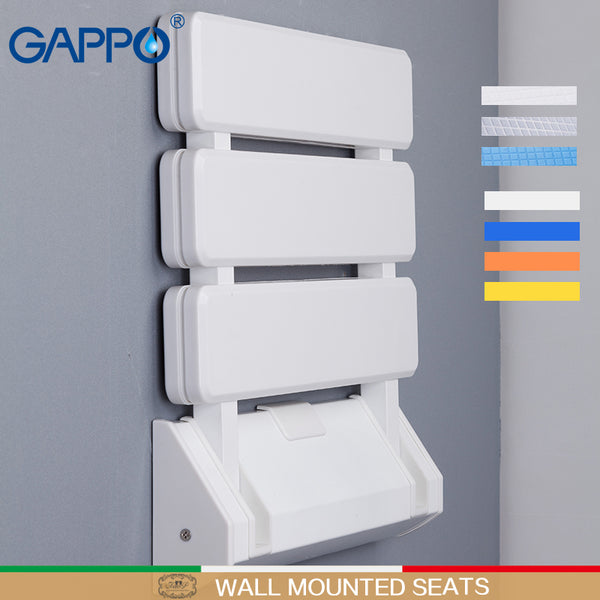 GAPPO Wall Mounted Shower Seats Plastic Folding Chair Bathroom Stool Taburete Durable Relax Chair Toilet Bench For Shower - The most popular products on Tiktok | GOWOW
