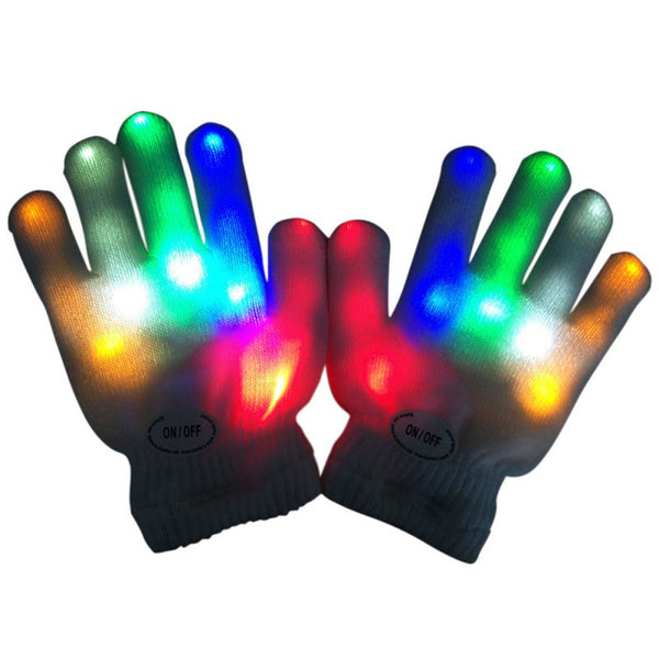 Gants Femme Sexy Kids Fingertip LED Gloves Rainbow Flash Light Glow Stick Gloves Mittens - The most popular products on Tiktok | GOWOW