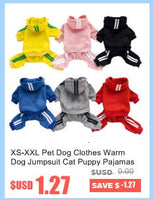 XS-XXL Pet Dog Clothes Warm Dog Jumpsuit Cat Puppy Pajamas Clothing Thicken Pet Hoodie Coat Outfit For Dogs Chihuahua Yorkie Pug - The most popular products on Tiktok | GOWOW