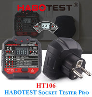 Habotest HT106d socket tester Voltage Test Socket detector EU Plug Ground Zero Line Plug Polarity Phase Check - The most popular products on Tiktok | GOWOW