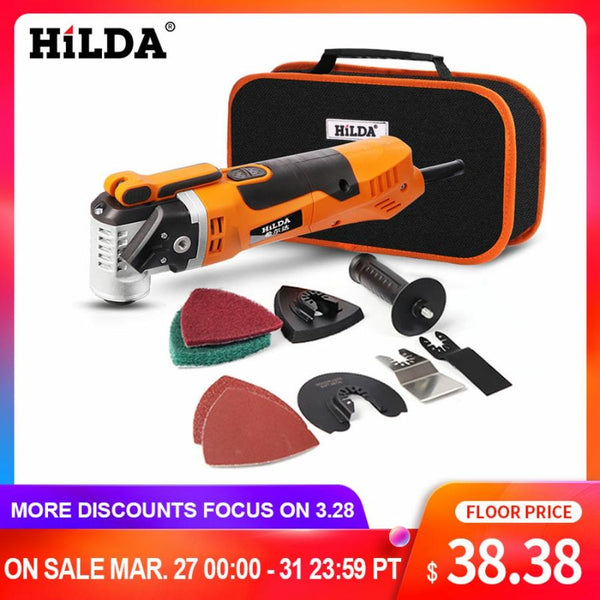 HILDA Oscillating Multi-Tools Renovator Tool Oscillating Trimmer Home Trimmer woodworking Tools Multi-Function Electric Saw - The most popular products on Tiktok | GOWOW