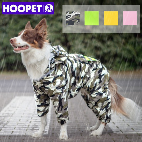 HOOPET Dog Raincoat Jumpsuit Rain Coat for Dogs Pet Cloak Labrador Waterproof Golden Retriever Jacket - The most popular products on Tiktok | GOWOW