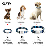 Dog Collar Personalized Nylon Pet Dog Tag Collar Custom Puppy Cat Nameplate ID Collars Adjustable For Medium Large Dogs Engraved - The most popular products on Tiktok | GOWOW