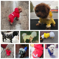 Dog Raincoat Puppy Rain Coat with Hood Reflective Waterproof Dog Clothes Soft Breathable Pet Cat Small Dog Rainwear XS - 2XL - The most popular products on Tiktok | GOWOW