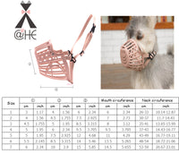 @HE Adjusting Pet Dog Muzzle New 1Pcs 7 Sizes Plastic Strong  Dogs Muzzle Basket Design Anti-biting Dog Mouth Mask For Dogs Cats - The most popular products on Tiktok | GOWOW