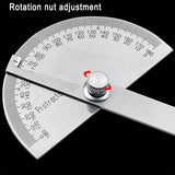 Stainless Steel Round Head 180 degree Protractor Angle Finder Rotary Measuring Ruler Machinist Tool 10cm Craftsman Ruler - The most popular products on Tiktok | GOWOW