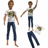 NK One Pcs Doll Casual Wear T-Shirt Trousers Summer Outfit Short Pants Ken Clothes Mix Style For Barbie Ken Doll Accessories JJ - The most popular products on Tiktok | GOWOW