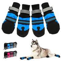 4pcs Waterproof Winter Pet Dog Shoes Anti-slip Snow Pet Boots Paw Protector Warm Reflective For Medium Large Dogs Labrador Husky - The most popular products on Tiktok | GOWOW