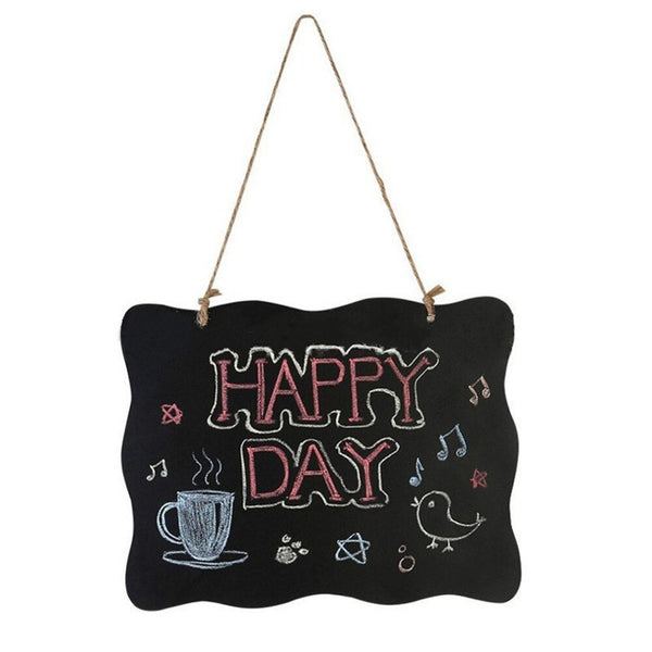Hanging Wooden Blackboard Double Sided Erasable Chalkboard Wordpad Message Black Board Office School Supplies - The most popular products on Tiktok | GOWOW