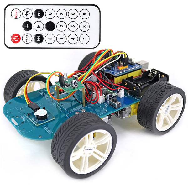 High Tech Programmable Robot Car Toy 4WD Wireless IR Remote Control Smart Car Kit with Tutorial for Arduino for  R3 Nano - The most popular products on Tiktok | GOWOW