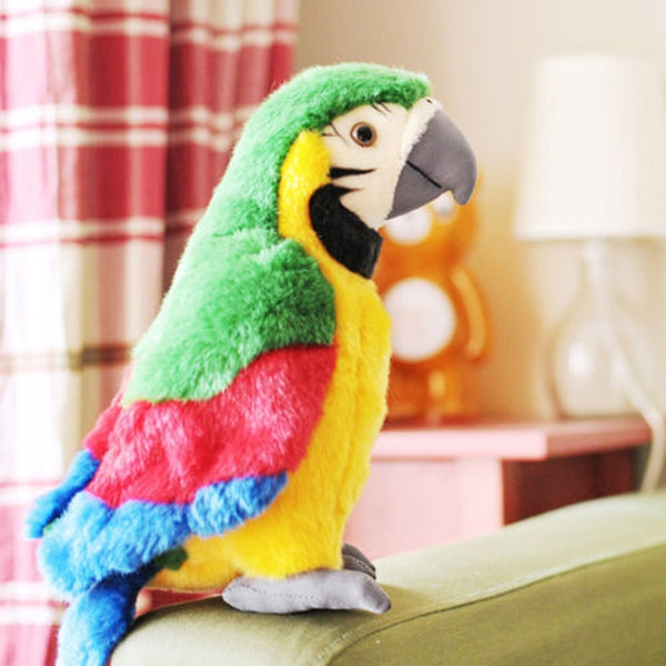 Hot Sale 26cm Speak Talking Record Cute Parrot Repeats Waving Wings Electric Plush Simulation Parrot Toy Macaw Toy Cute Kid Gift - The most popular products on Tiktok | GOWOW