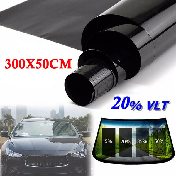 Hot Sale 300*50cm VLT Black Film Roll Tint Window Car Tint Auto Glass Window Summer House Sunscreen UV Adhesive Film Stickers - The most popular products on Tiktok | GOWOW