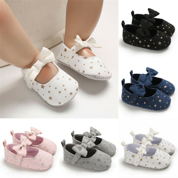 Hot Toddler Girl Crib Shoes Newborn Baby Girls Boys Bowknot Soft Sole Dot Print Casual Shoes - The most popular products on Tiktok | GOWOW