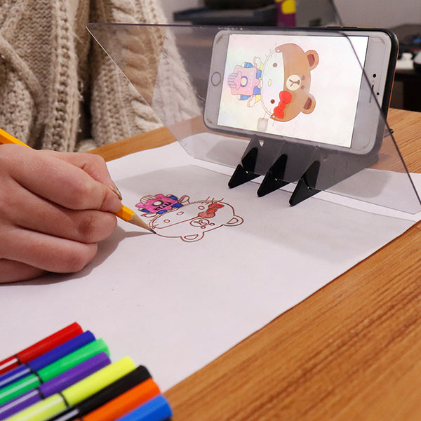 Imaging Drawing Board Sketch Reflection Dimming Bracket Painting Mirror Plate Tracing Copy Table Projection Board Plotter - The most popular products on Tiktok | GOWOW