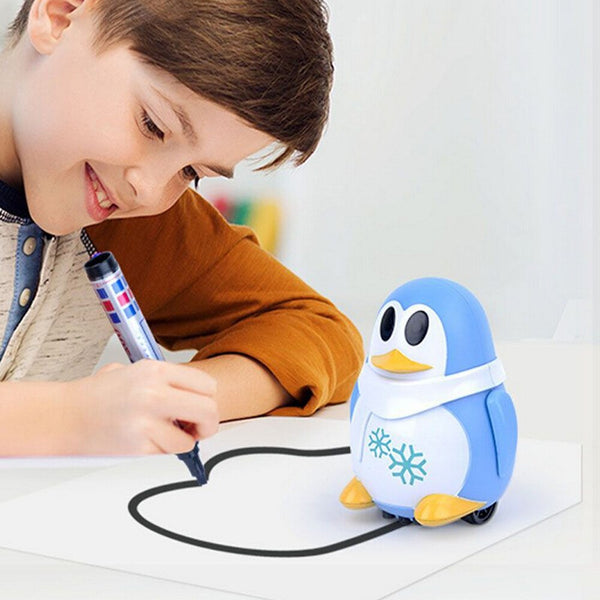 Inductive Train Magic Pen Educational Toy Cartoon Robot penguin Follow Any Line You Draw Drawn Xmas Gift fo kid - The most popular products on Tiktok | GOWOW