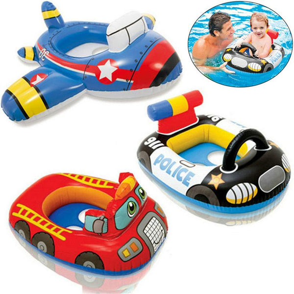 Inflatable water car Float Seat Boat Baby Pool Swim Ring Swimming Safe Raft Kids swimming boat babies - The most popular products on Tiktok | GOWOW