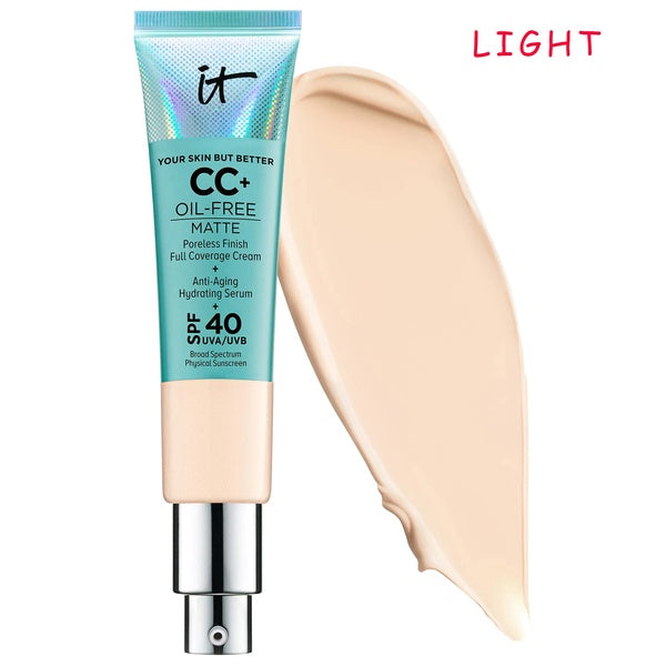 It Cosmetics Concealer Cream Matter Oil-Control Makeup Base Full Cover Dark Circle Eyes SPF 40 Make Up Skin Brighten CC Cream - The most popular products on Tiktok | GOWOW