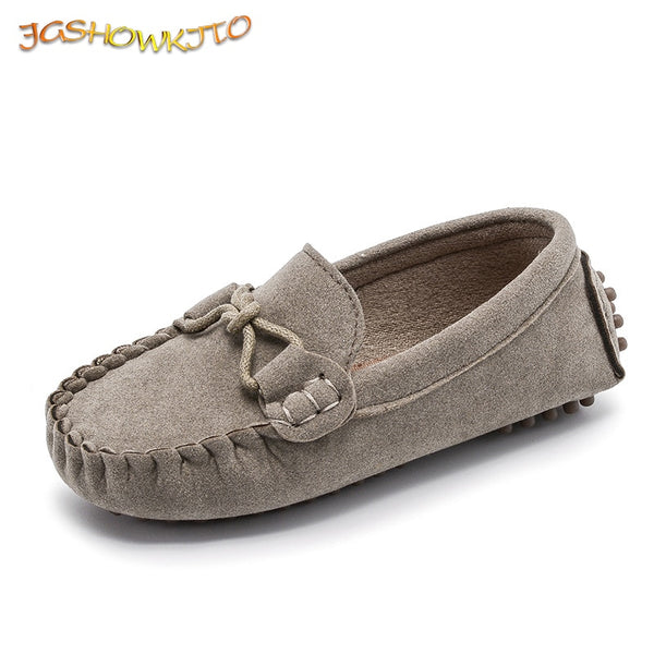 JGSHOWKITO Hot Fashion Kids Shoes For Boys Girls Children Leather Shoes Classical All-match Loafers Baby Toddler Boat Shoes Flat - The most popular products on Tiktok | GOWOW
