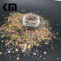 KM GLITTER Top Popular Best Sales Chunky Mixed Fairy Face Body Craft Rose Sequins Manicure Rose Gold Glitter for Nail Decoration - The most popular products on Tiktok | GOWOW