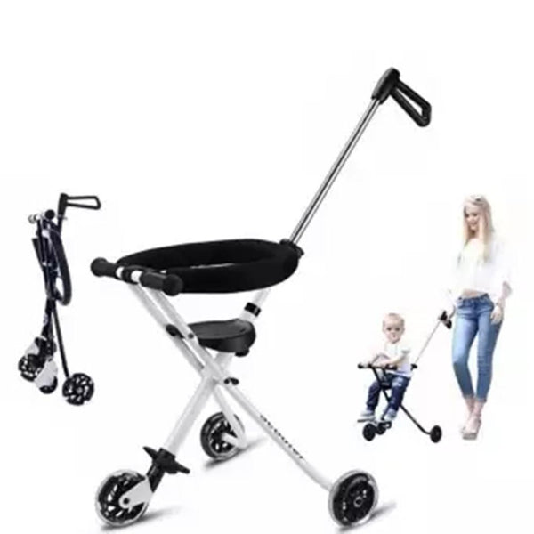 Kidlove Lightweight Folding Baby Stroller with PVC Flash Wheel Guardrail - The most popular products on Tiktok | GOWOW