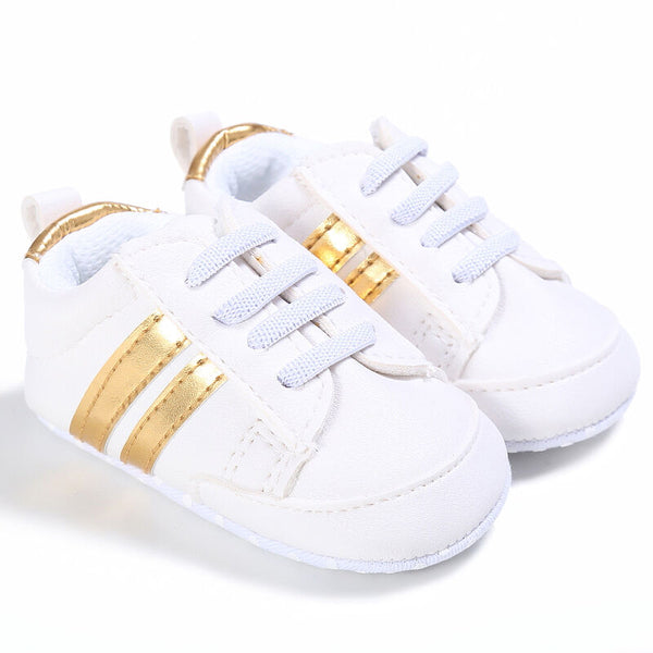 Kids Baby Unisex Crib Shoes Lace up Soft Sole Comfort PU Casual Prewalker Baby Shoes - The most popular products on Tiktok | GOWOW