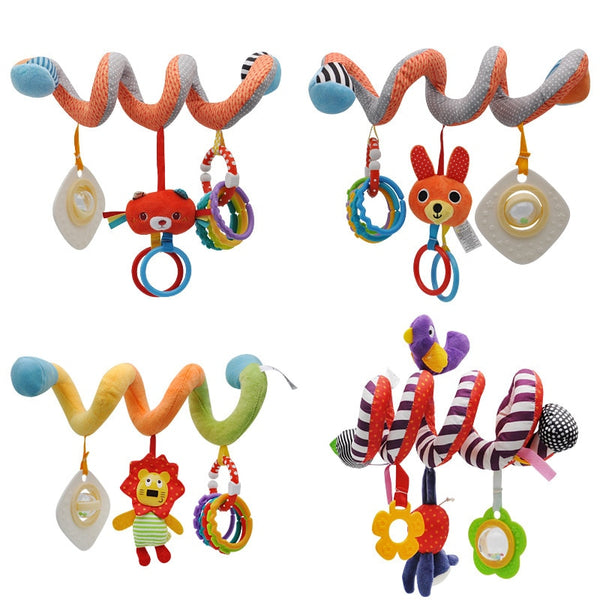Kids Toys Hanging Spiral Rattle Stroller Cute Animals Crib Mobile Bed Baby Toys 0-12 Months Newborn Educational Toy for Children - The most popular products on Tiktok | GOWOW