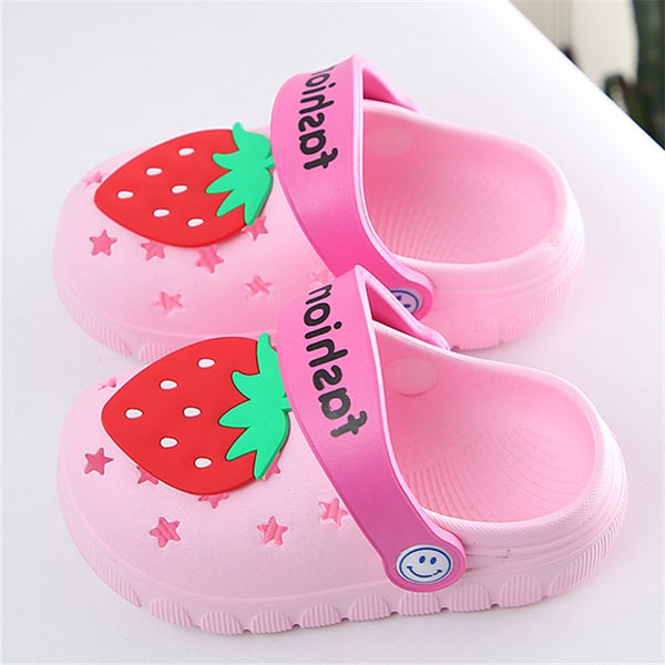 Kids Water Shoes Lovely Strawberry Baby Girls Home Slippers Anti Slip Outdoor EVA Croc Shoes Girls Slippers Soft Kids Shoes - The most popular products on Tiktok | GOWOW