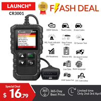 LAUNCH X431 CR3001 Full OBD2 scanner OBDII Engine Code Reader Car Diagnostic tool Multilingual free update PK CR319 AD310 ELM327 - The most popular products on Tiktok | GOWOW