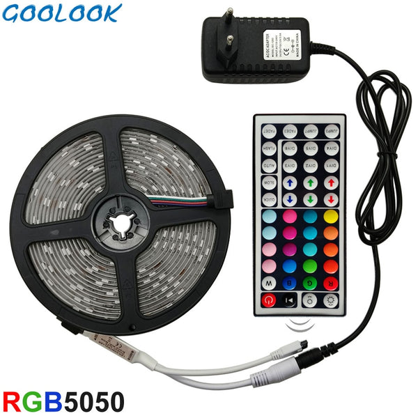LED Strip Light RGB 5050 SMD 2835 Flexible Ribbon fita led light strip RGB 5M 10M 15M Tape Diode DC 12V+ Remote Control +Adapter - The most popular products on Tiktok | GOWOW