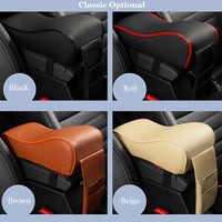 Leather Car Central Armrest Pad Black Auto Center Console Arm Rest Seat Box Mat Cushion Pillow Cover Vehicle Protective Styling - The most popular products on Tiktok | GOWOW