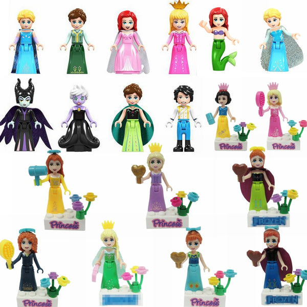 Legoing Figurine Princess Prince Anna Mermaid Cinderella Rapunzel Belle Merida Maleficent Figurines Legoing Toys for Children - The most popular products on Tiktok | GOWOW