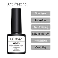 Lemooc 8ml Anti-freezing Peel Off Nail Art Latex Cuticle Guard pink Cuticle Protector Nail Polish  Nail Art Latex - The most popular products on Tiktok | GOWOW