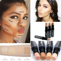 Makeup Base Eye Concealer Cream Stick Makeup Brighten Shadow Waterproof Cover Dark Circle Comestic Long-Lasting Natural 4 Color - The most popular products on Tiktok | GOWOW