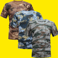 Men Compression Comfortable Cool Shirt Fitness Camouflage Summer Quick Dry Breathable T-Shirt Tight Army Tactical T-shirt - The most popular products on Tiktok | GOWOW