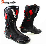 Microfiber Leather Motorcycle boots Men's SPEED Racing dirt bike Boots Knee-high Motocross Boots Riding Motorboats - The most popular products on Tiktok | GOWOW