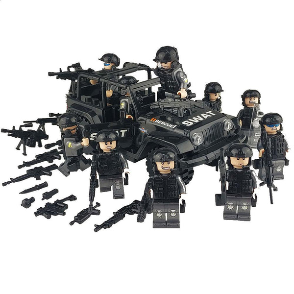 Military Special Forces Soldiers Bricks Figures Guns Weapons Compatible Armed SWAT Building Blocks Kids Toys - The most popular products on Tiktok | GOWOW