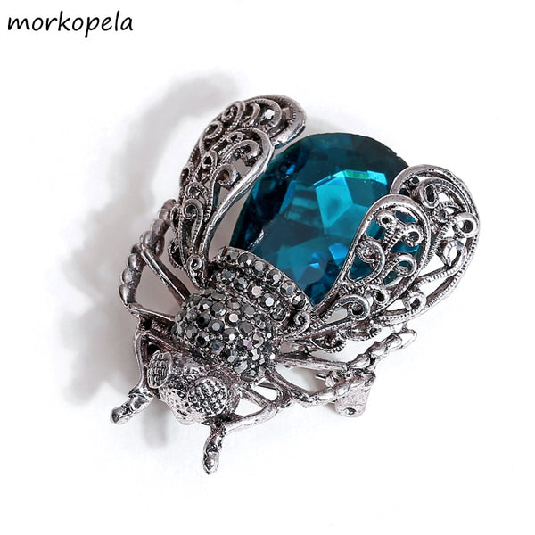 Morkopela Crystal Insect Brooch Beetles Brooches Pin Fashion Brooch For Women Pins Scarf Clip Jewelry Broach Bouquet - The most popular products on Tiktok | GOWOW